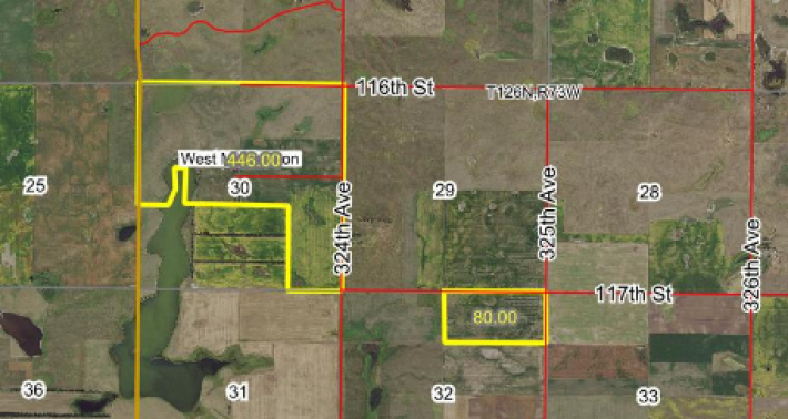 FOR SALE 526 ACRES MCPHERSON COUNTY MIX OF PASTURE AND CROP
