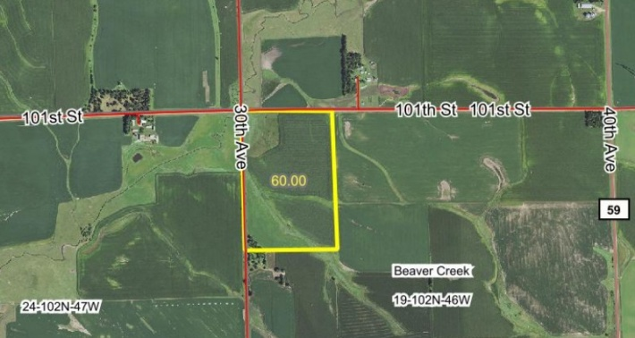 60 ACRES FOR SALE NEAR BEAVER CREEK MN