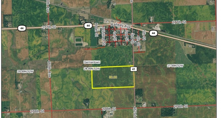 80 ACRES FOR SALE TURNER COUNTY SD NEAR CHANCELLOR