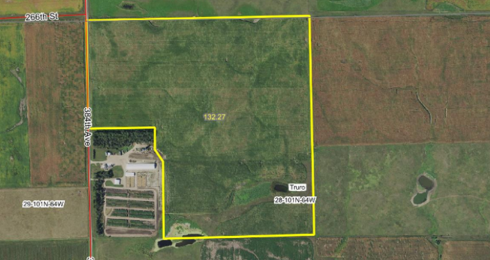 Aurora County Land Auction 132.27 Acres January 28th 10:00 AM On-site & Online