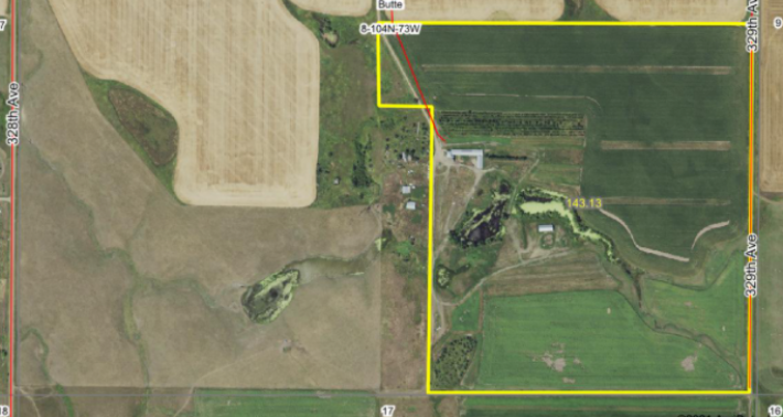For Sale 143.13 Acres Lyman County Near Reliance SD