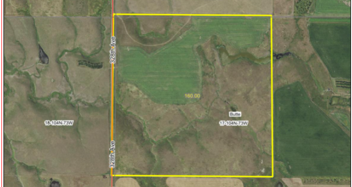 SALE PENDING 160 Acres Mix of Crop and Pasture South of Reliance SD