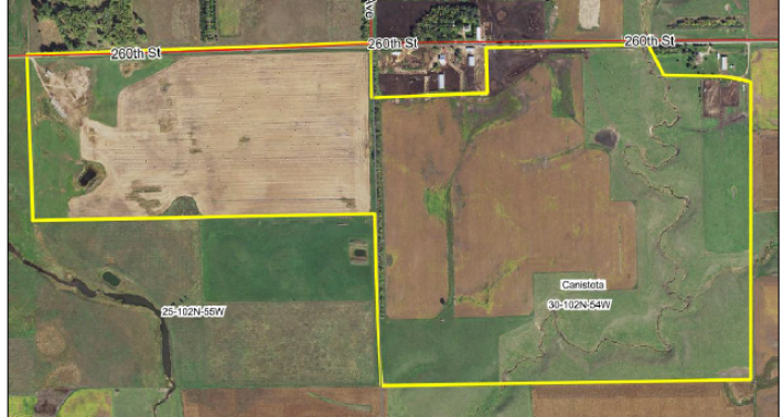 FOR SALE MCCOOK COUNTY 245 ACRES CANISTOTA TOWNSHIP
