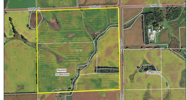 Yankton County 154.98 Acres For Sale